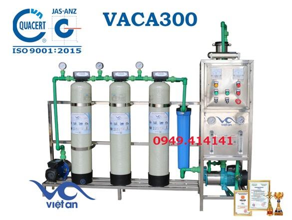 Dây chuyền lọc nước tinh khiết 300l/h VACA300