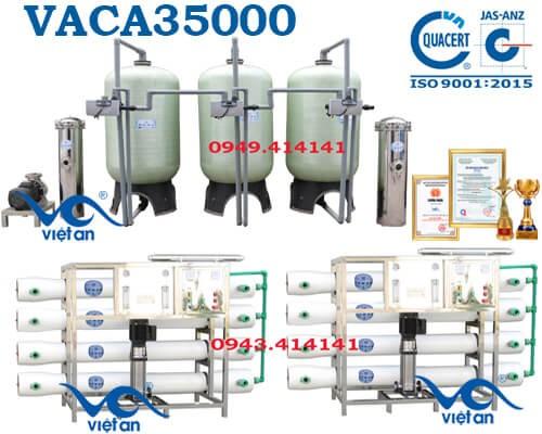 Dây chuyền lọc nước tinh khiết 35000l/h VACA35000
