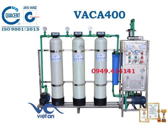 Dây chuyền lọc nước tinh khiết 400l/h VACA400