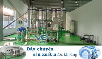 Dây chuyền sản xuất nước khoáng 5000 l/h