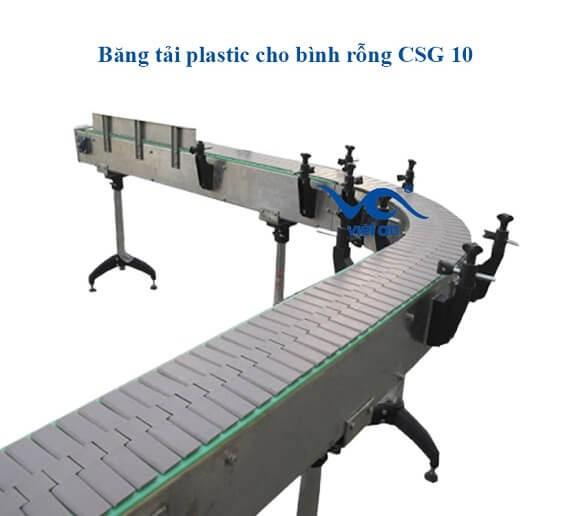 Băng tải plastic cho bình rỗng csg10