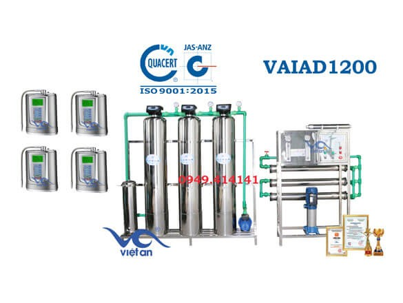 Dây chuyền lọc nước điện giải 1200 l/h VAIAD1200