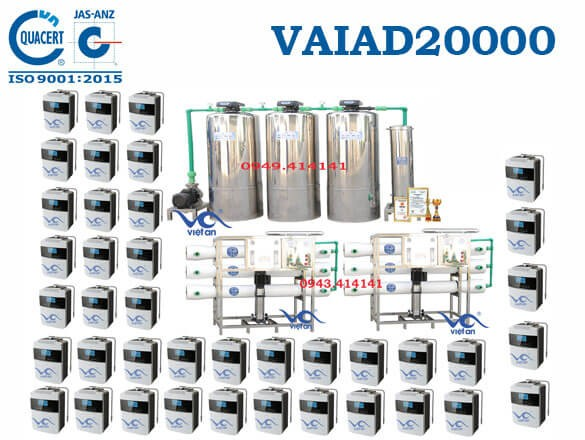Dây chuyền lọc nước điện giải 20000 l/h VAIAD20000