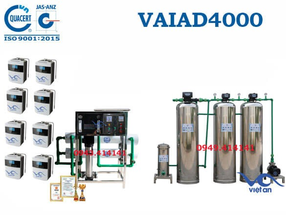 Dây chuyền lọc nước điện giải 4000 l/h VAIAD4000