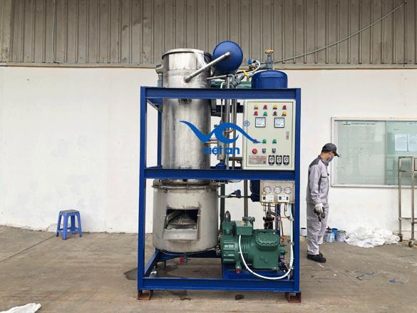 Máy làm đá viên 3 tấn công nghiệp xuất cho khách hàng Hà Giang