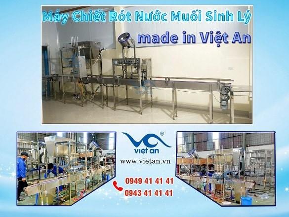 Chiêm Ngưỡng Máy Chiết Rót Nước Muối Sinh Lý Tự Động Made in Việt An