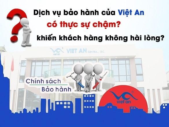 Dịch vụ bảo hành của Việt An như thế nào?