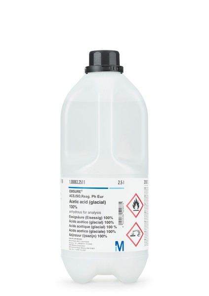 Acetic acid (glacial) 100% anhydrous for analysis EMSURE® ACS,ISO,Reag. Ph Eur 1L