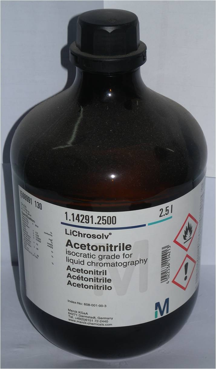 Acetonitrile isocratic grade for liquid chromatography LiChrosolv®.