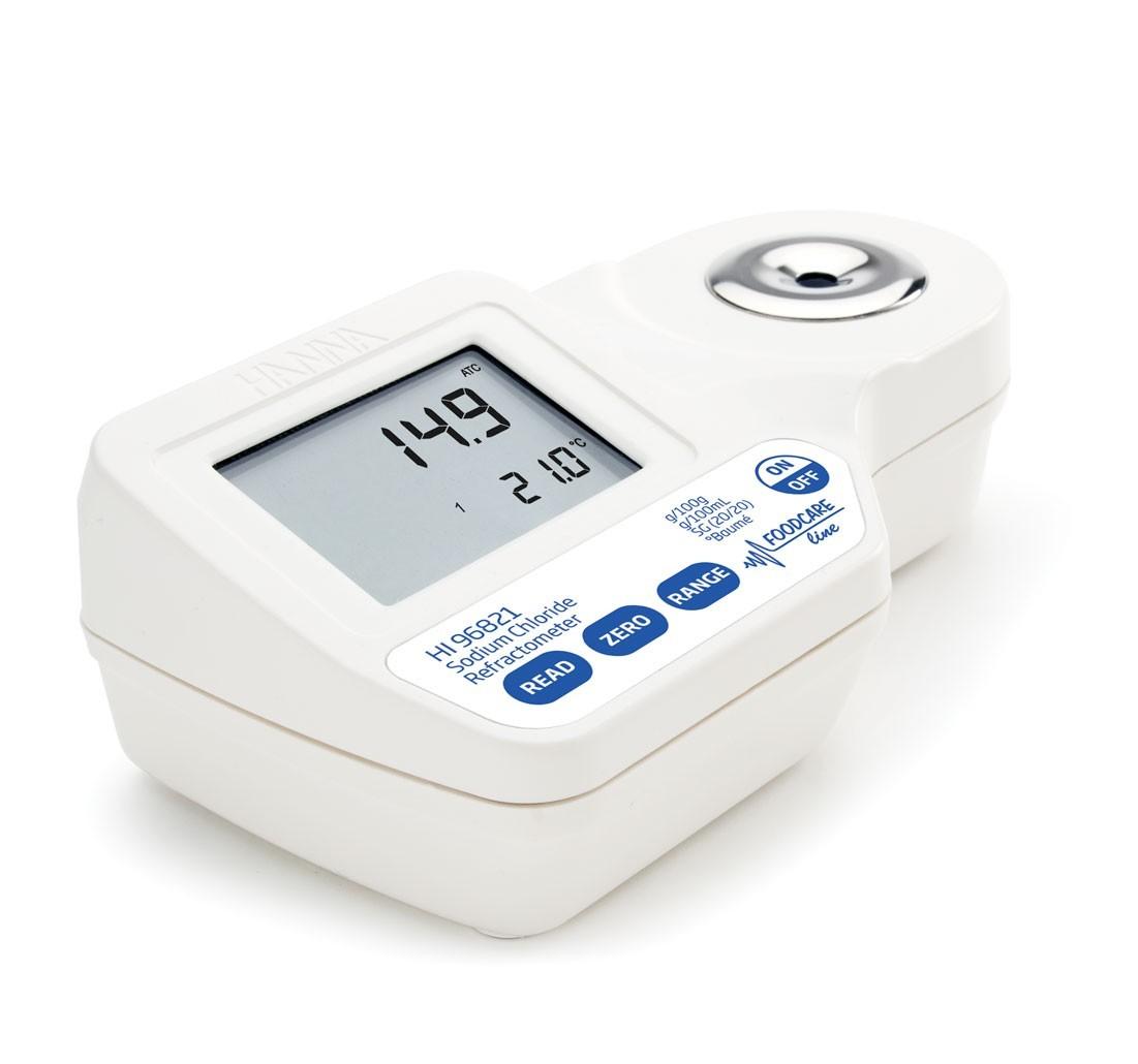 Khúc xạ kế đo NaCl trong thực phẩm HI96821 Hanna