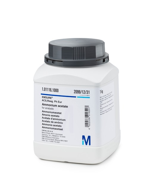Ammonium acetate for analysis EMSURE® ACS,Reag. Ph Eur-500g