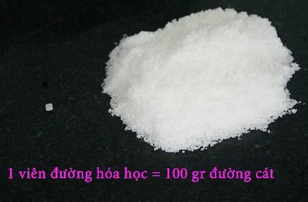 1 viên đường hóa học bằng 100 gr đường cát