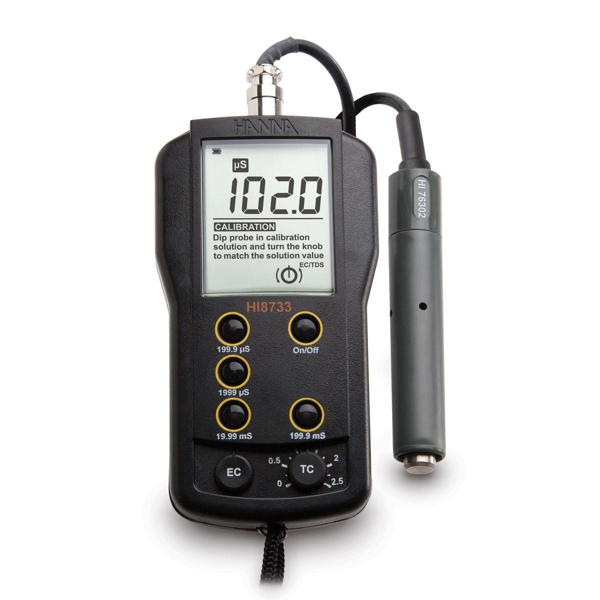 Máy đo độ dẫn (EC) đa thang đo HI8733 Hanna