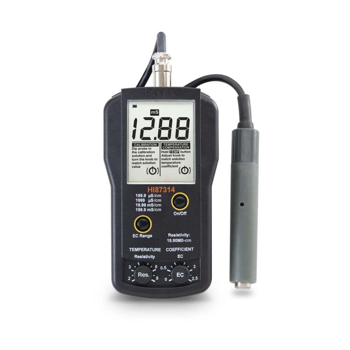 Máy đo độ dẫn và trở kháng HI87314 Hanna
