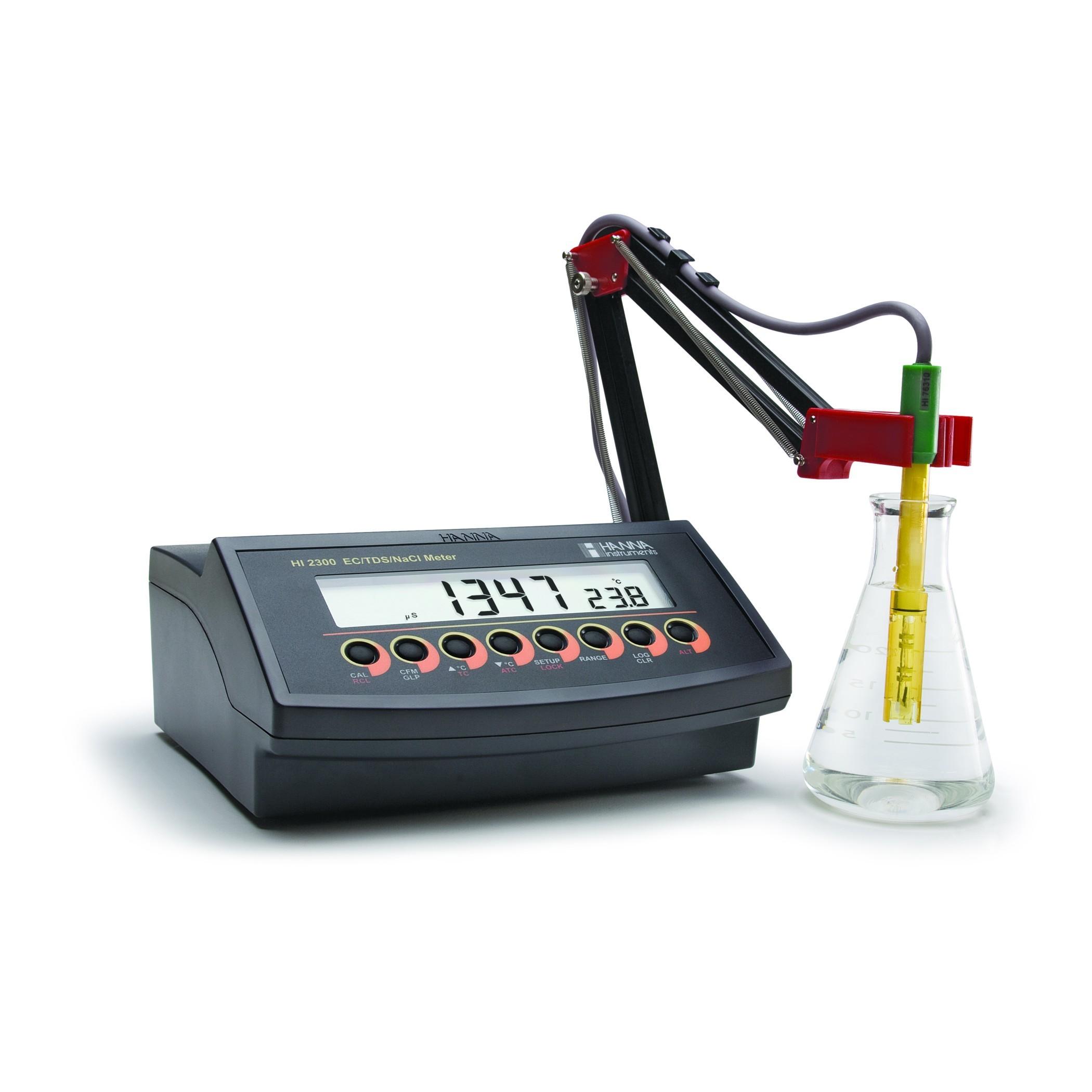 Máy đo EC/TDS/Độ mặn tự động chọn thang HI2300-02 Hanna