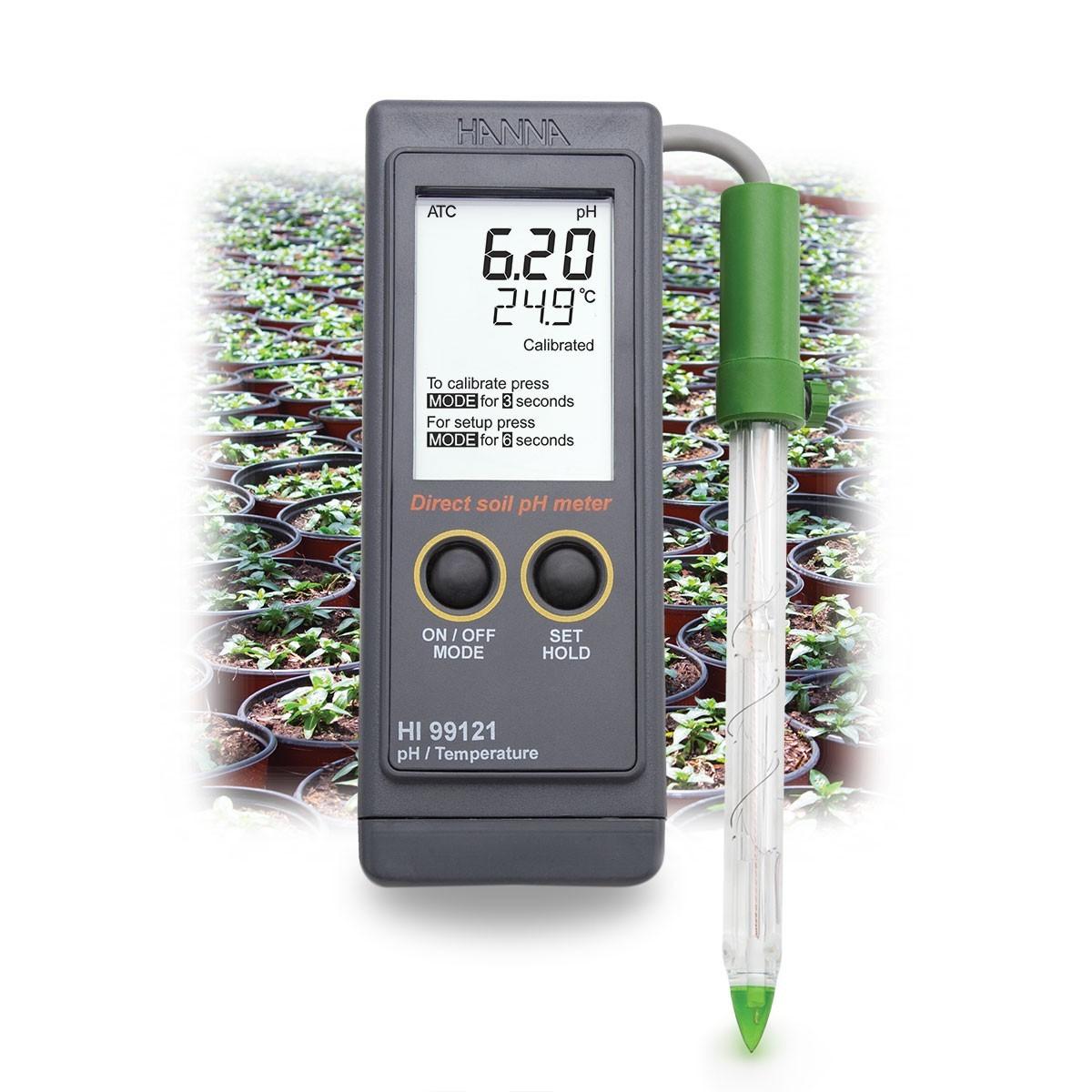 Máy đo pH/nhiệt độ trong đất HI99121 Hanna