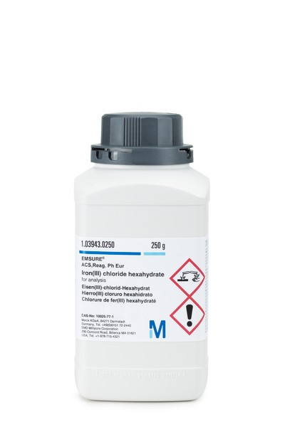 Iron(III) chloride hexahydrate for analysis EMSURE® ACS,Reag. Ph Eur-250g