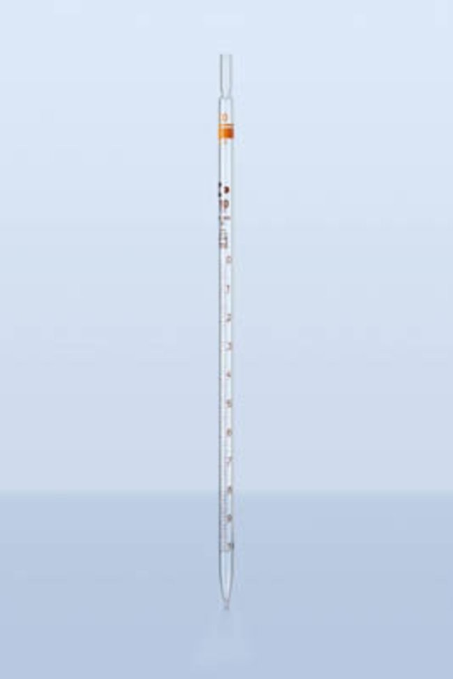 Pipet thẳng thủy tinh chia vạch 10ml, loại A, Duran