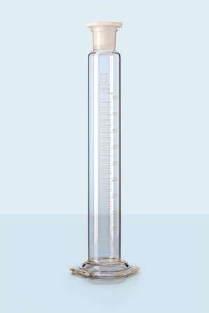 Ống đong thủy tinh có nút nhựa 250ml Duran