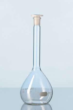 Bình định mức class A, nút nhựa, chữ trắng-25ml Duran