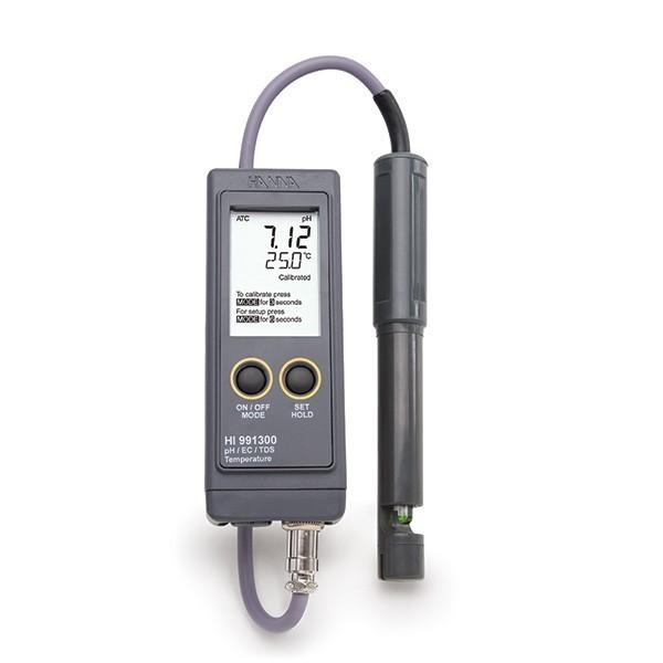 Máy đo pH/EC/TDS/Nhiệt độ chống thấm nước (Thang thấp) HI991300 Hanna
