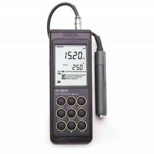 Máy đo EC/TDS/Độ mặn/Nhiệt độ cầm tay HI9835 Hanna