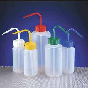 Bình tia nhựa miệng rộng, LDPE 500ml, nắp đỏ, Azlon