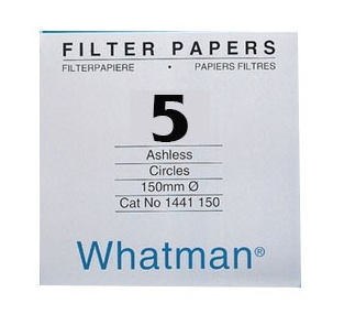 Giấy lọc định tính 5, chậm 2.5um, 90mm Whatman