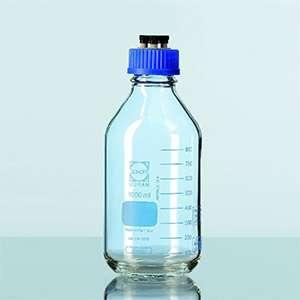 Chai trung tính HPLC GL45 PP với 4 cổng, 1000 ml Duran