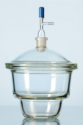 Bình hút ẩm có vòi dạng Novus, vĩ sứ, 150mm, 2,4 lít Duran
