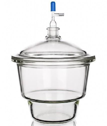 Bình hút ẩm có vòi dạng Mobilex, vĩ sứ nắp vặn GL32, DIN 250, khóa PTFE, 10.5 lít Duran