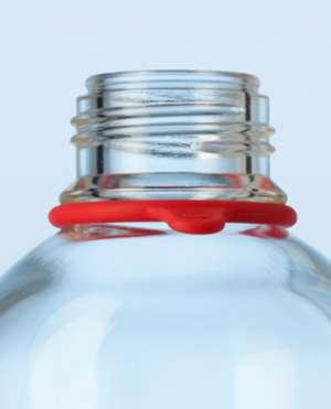 Vòng thẻ cao su cho chai trung tính màu đỏ Duran