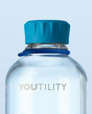 Vòng thẻ cao su cho chai trung tính màu xanh da trời Duran