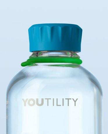 Vòng thẻ cao su cho chai trung tính màu xanh lá cây Duran