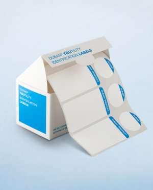 Bộ nhãn dán tiệt trùng gồm : 200 nhãn dán chai (36x70mm) và 200 nhãn dán nắp (30mm) Duran