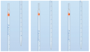 Ống hút thẳng vạch xanh 1ml, AS, chia vạch cuối (type 1) Duran
