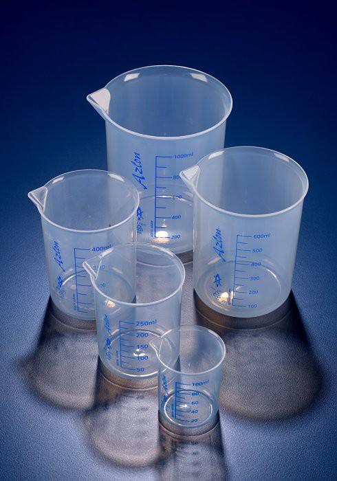 Cốc nhựa thấp thành chia vạch PP 50ml, Azlon