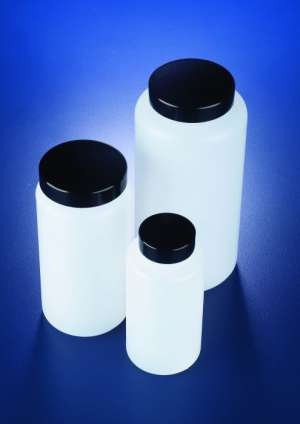 Chai nhựa HDPE miệng rộng, nắp đen 150ml Azlon