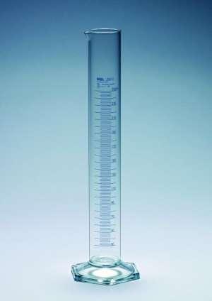 Ống đong thủy tinh, loại B, 250ml, vạch xanh MBL