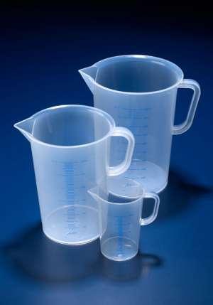 Ca nhựa có chia vạch PP 50ml, vạch xanh, Azlon