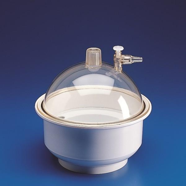 Bình hút ẩm bằng nhựa,có vòi  đk 250 mm