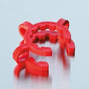 Vòng nối cho bình tam giác KECK clips POM, NS 29.2, đỏ Duran.