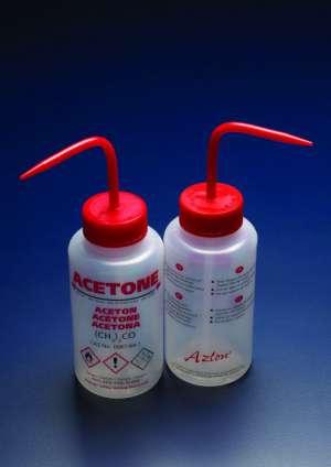Bình tia nhựa miệng rộng chứa Acetone, LDPE 250ml AZLON