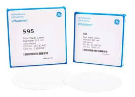 Giấy lọc S/S định tính 595 1/2, TBN 4-7 um, gấp sẵn 125mm Whatman