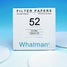 Giấy lọc định lượng 52, ko tro, TB 7um, 110mm Whatman