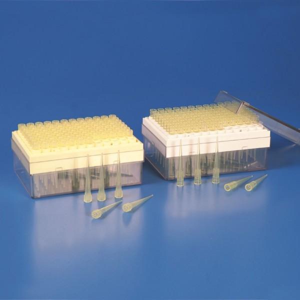Micro tip vàng 200ul, Gilson (hộp/96tip) Kartell