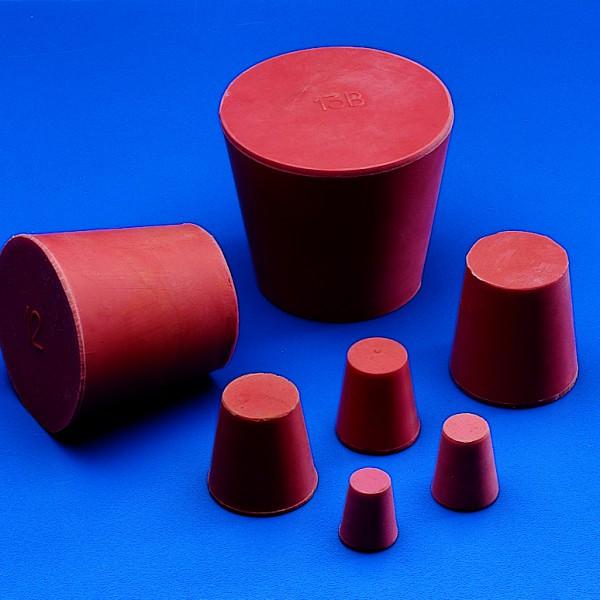 Nút cao su đỏ, 13x10mm
