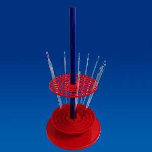 Giá đỡ pipette dạng tròn, cho 94 pipette, màu đỏ Kartell
