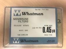 Màng lọc Cenluloz Nitrate, tiệt trùng, kẻ sọc, không pad, 0.45um, 47mm Whatman