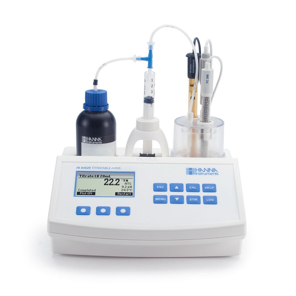 Máy phân tích mini nồng độ axit trong các sản phẩm từ sữa HI84529 Hanna
